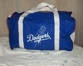 SALE Vintage 1980s LA Dodger Bag Carryall Tote Sports Nylon Lightweight One Size Fits All Very Cute