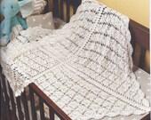 Crochet Lacey Baby Afghan 708 PDF Digital Crochet pattern