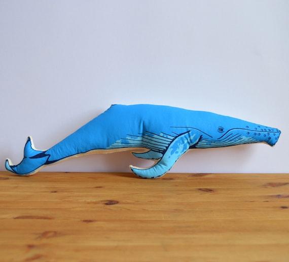 Plush Whale Pillow