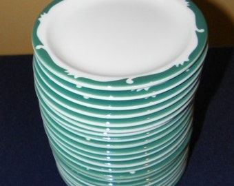 4 SHENANGO China Restaurant Wintergreen 6 3/8 Inch Dessert Plates. 48 Available