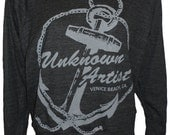 "Unknown Artist  Anchor Ladies Raglan Pullover Slouchy ""Sweatshirt""  American Apparel S  M  or  L"