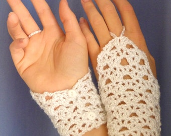 Glamour Lace Wristers - PDF Crochet Pattern - Instant Download