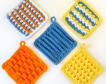 Square Scrubbie Set - PDF Crochet Pattern - Instant Download