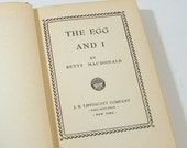 Vintage Book, The Egg and I, Copyright 1945