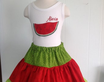 GreatStitch Watermelon Skirt and Tank
