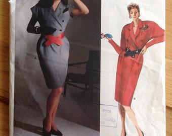 Uncut Vogue 1746 Karl Lagerfield Designer Original Dress • size 12