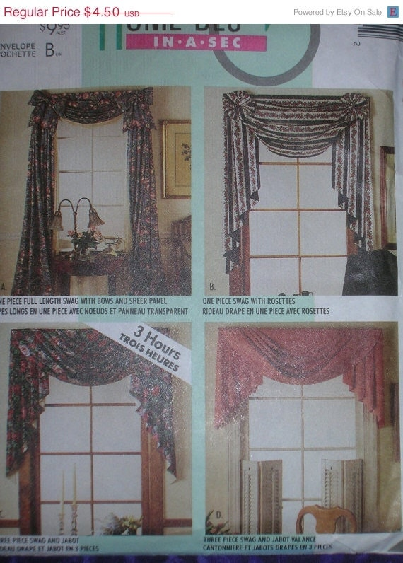 Sale Uncut Mccalls 4621 Home Decor Swags Jabots By Paulassewnice