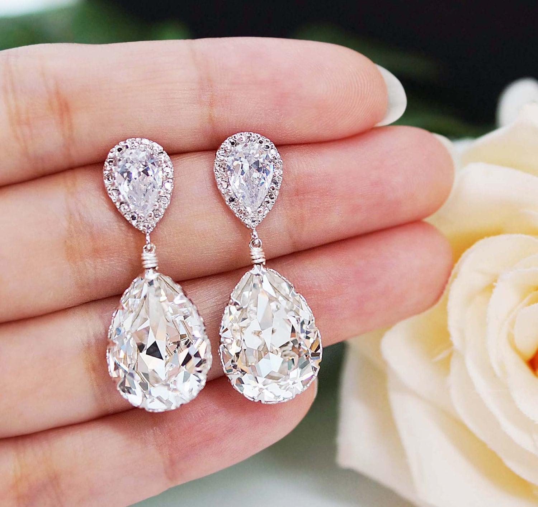 wedding jewelry bridal earrings wedding earrings zoom