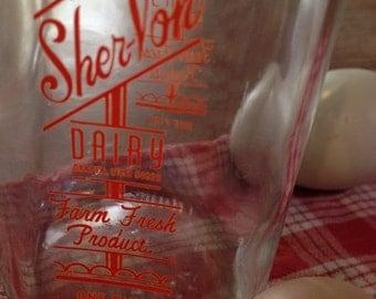 Milk bottle Sher-Von 1 pint