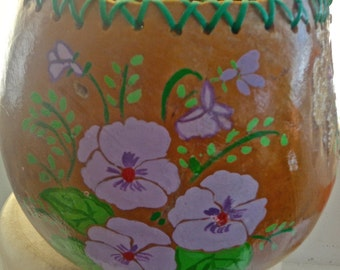 pansy gourd bowl