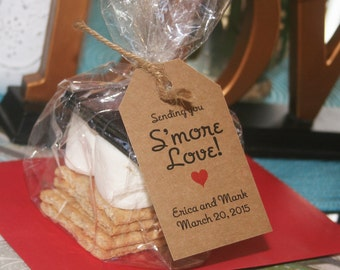 Smore Love Tags, Rustic Wedding Favor Tags, Smore Love Rustic Wedding Favor Tag (75 tags only)