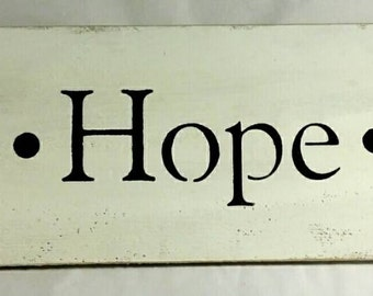 Faith-Hope-Love Primitive White Wood Sign Custom