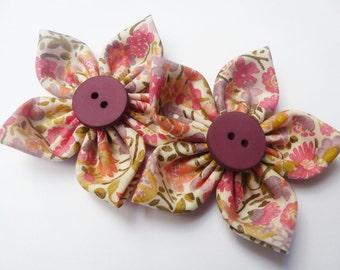 liberty  kaylie sunshine fabric flower x2