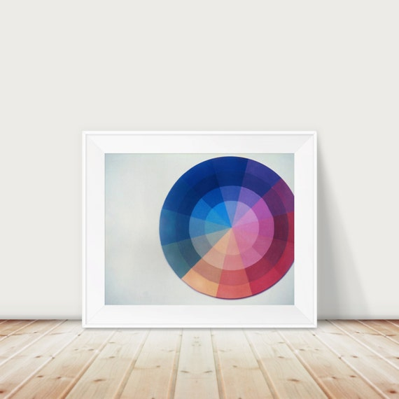 Color Wheel Fine Art Print--Minimalism Color Design Theory Artist Cheerful Apartment Home Decor Wholesale