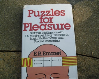 Vintage Book Puzzles For Pleasure Vintage Book of Puzzles by E.R. Emmet