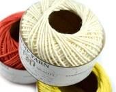 White Hemp Yarn,   Cotton Hemp Yarn,  Hemp Wool, Knitting Yarn, Hemp Crochet Yarn, White Yarn - Y3
