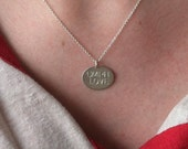 """Sterling """"UMPH LOVE"""" or """"UMPH"""" necklace-- Umphreys McGee -- sterling silver"""