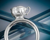 Silver Teacup Ring
