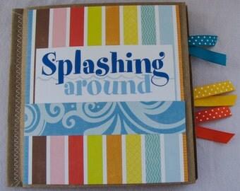 Splashing Around Paperbag Scrapbook