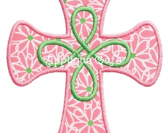 590 Loopy Cross Machine Embroidery Applique Design