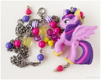 My Little Pony, Princess Twilight Sparkle Necklace, Beaded, Long, Kawaii, MLP, Gifts for Girls