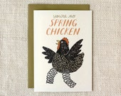 Birthday Card - Spring Chicken