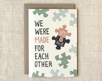 Anniversary Card, Love Card - Puzzle