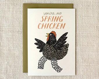 Birthday Card - Spring Chicken