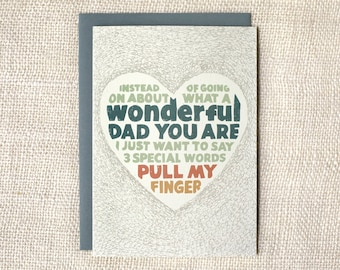Funny Father's Day Card - Pull My Finger