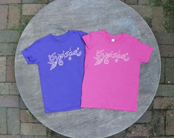 Gypsea Tee Shirt / Boho Kids / Summer Beach T-Shirt / American Apparel