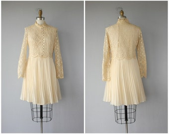 Vintage 60s Dress | 60s Wedding Dress | 60s Lace Dress | Vintage 1960s Dress | 60s Party Dress | Cream Lace Party Dress