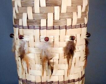 Vintage Twill Weave Basket Native Inspired