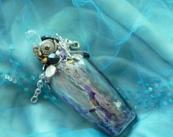 Mystical Incantation, Spirit Jar, Glass Decor, Glass Art, handmade Decor