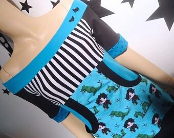 Edward Sciossorhands • Off Shoulder • Kangaroo Pocket Top • Small Medium Large XL • Short Sleeves