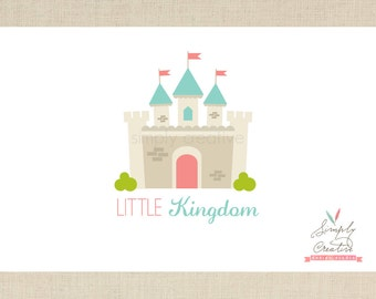 Castle Logo Design - Premade Logo - Princess Castle Kingdom Custom Premade Logo - Photography Business Logo - Logo Modern Design - Branding