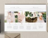 Wedding Day Timeline Template for Photographers - New Client Studio Welcome Packet - Digital Photographer Magazine Templates - m0203