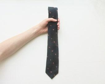 regal lion eagle crest print necktie . crown royalty navy blue tie . dapper menswear .sale s a l e