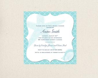Beach Themed Bridal Shower Invite