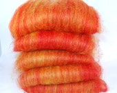 Masham Flame - Red & Yellow Spinning Batts - 6 ounces