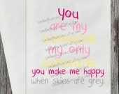 12 You Are My Sunshine / Pink Yellow Grey / Baby Shower / BIRTHDAY Candy Buffet Party Favor Bags / Custom / Table Decor / 3 DayShip (refsun)