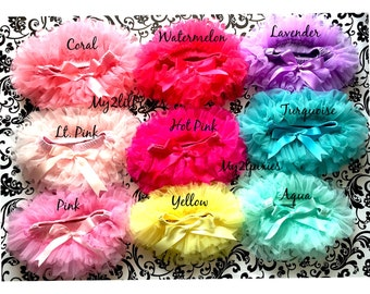 Tutu Bloomers. CHOOSE 1 TUTU BLOOMER, ruffles all the way around,Chiffon Baby Bloomer, Diaper cover, newborn, bloomer-ready to ship