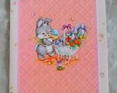 Sister Easter vintage 60s bunny Hallmark card
