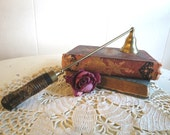 Vintage Brass and Wood Candle Snuffer