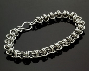 Aluminum Barrel Weave Chainmaille Bracelet Kit or Ready Made - Perfect for Beginners But Fun for All