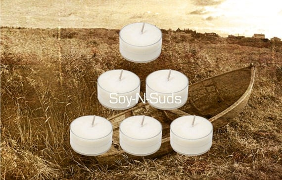Soy Tea Lights, Soy Candles, SANDALWOOD, Dye Free, T Lites, SANDALWOOD Candles, 6 Pack, White Candles, Scented, Spring Candles, soyNsuds