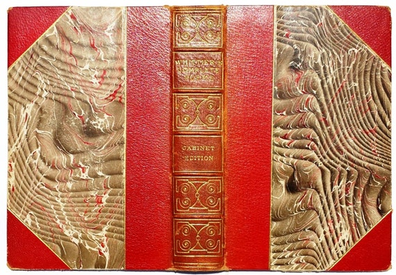 Antique Book Cover Paper : Antique marbled paper and leather book covers