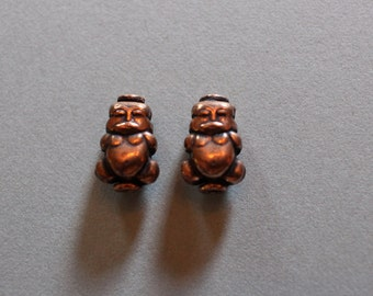 Copper Buddha Beads