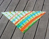 Tie Dye Pet Scarf - Bright Tropical Stripes