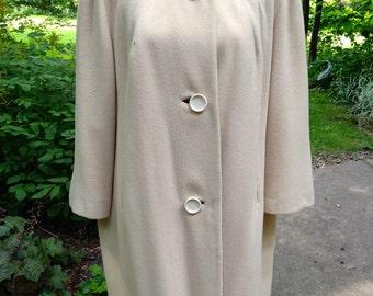 Vintage White Cashmere Womens Coat / Jacket