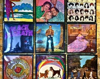Custom Glittered Record Album Art - Your Choice of Album